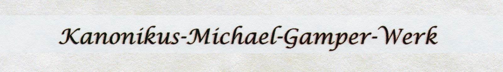 Kanonikus Michael Gamper